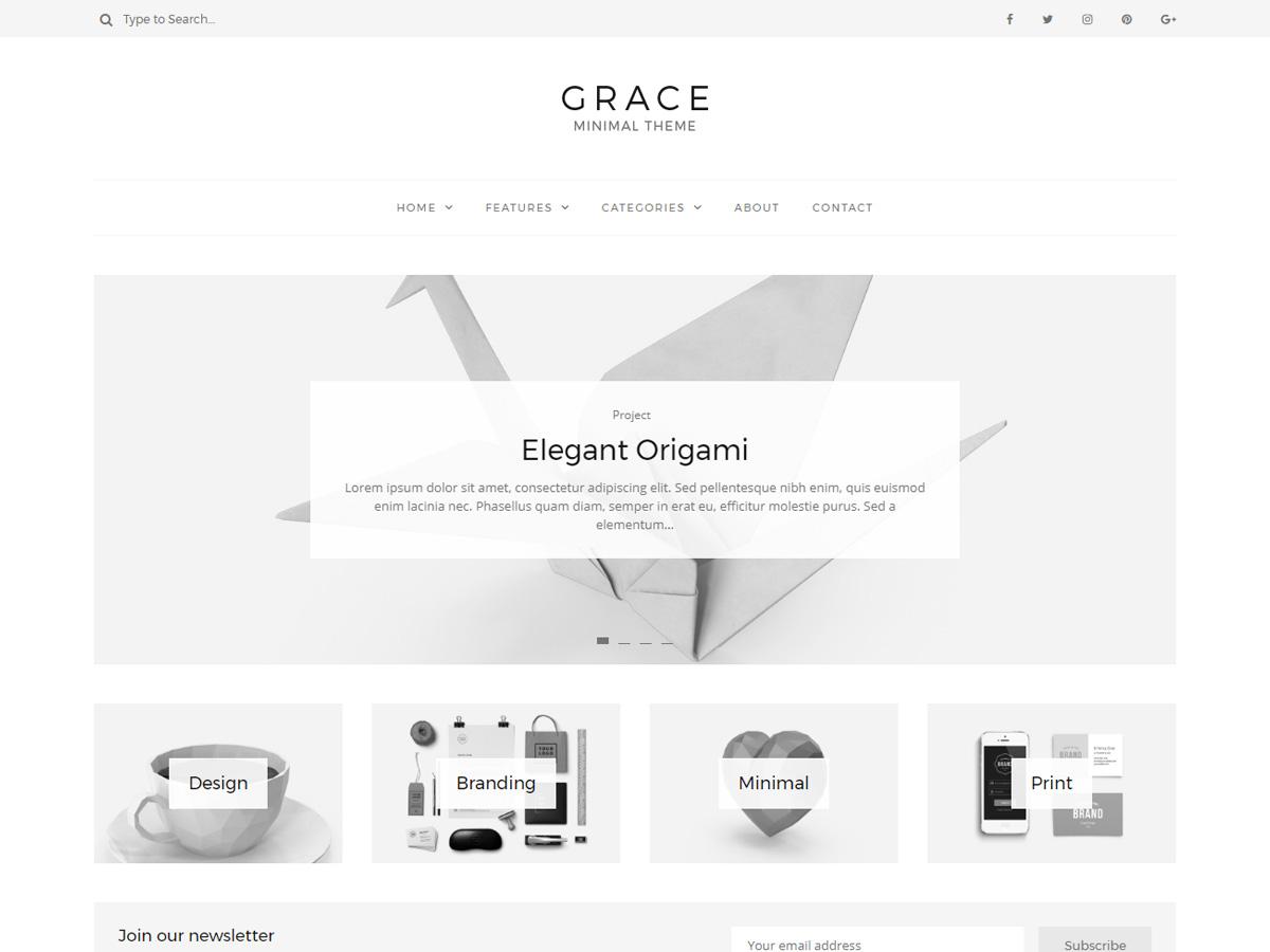 grace minimal theme